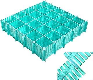 Ketamyy 12pcs Separateur Tiroir Extensible Réglable Grille Tiroir Diviseurs DIY Rangement Organisateur en Plastique Conten...
