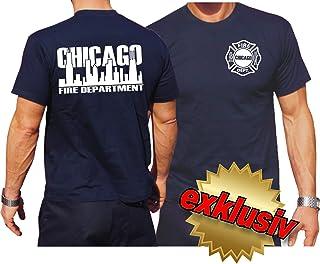 Chicago Fire Dept feuer1 Felpa con Cappuccio Giacca Navy Skyline//Emblem