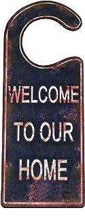 Boho Traders Welcome Door Hanger, Black