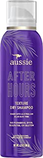 Aussie After Hours Texture Dry Shampoo, No Residue, Infused with Australian Blue Gum Tree, Paraben & Dye Free, 4.9 Ounce