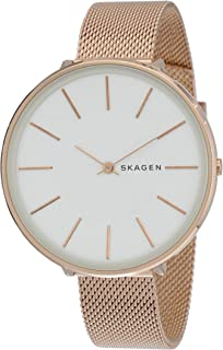 Skagen Women's Karolina Japanese-Quartz Watch with Stainless-Steel Strap, Rose Gold, 14 (Model: SKW2688)