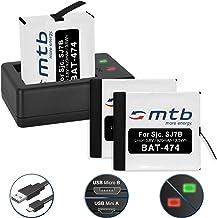 Cable Micro-USB Inclus 2 Batteries SJ7000 Star Cam/éra d/'Action Black//Silver//Rose Edition USB pour SJCAM SJ7 Star 4K NATIV WiFi Double Chargeur