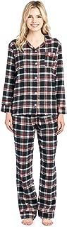 Women's Flannel Plaid Pajamas Long Sleeve Button Down Pj Set