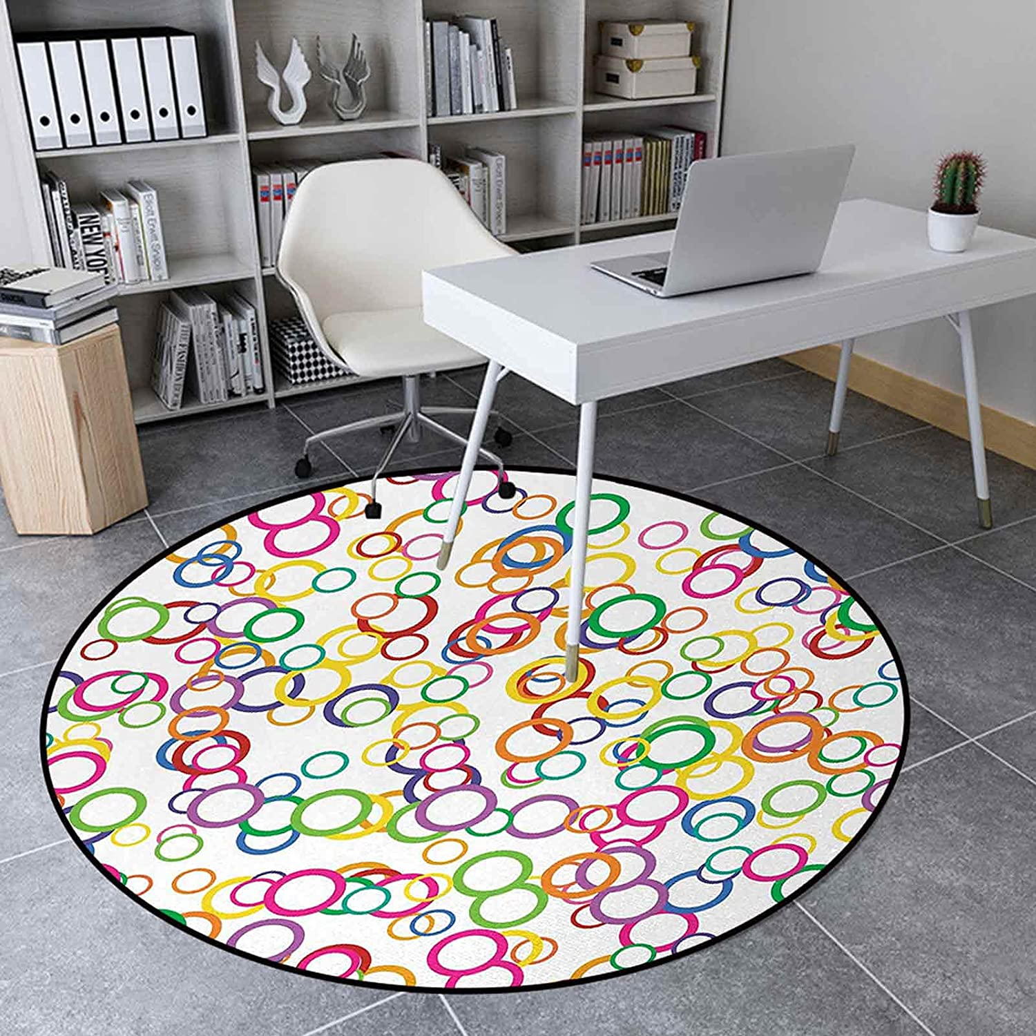 Area Rug El Paso Mall Round New life 5.6 Ft Floor Mat Carpet for Bedroom Living Room
