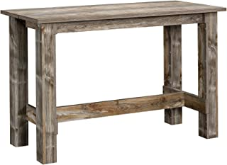 Sauder 424609 Boone Mountain Counter Height Dining Table, Rustic Cedar Finish