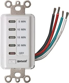Woods 59007WD In-Wall 30-Minute Decora Digital Countdown Timer