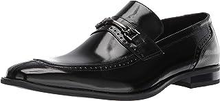 حذاء رجالي من STACY ADAMS بتصميم Tanner Moc Toe موديل Penny Loafer، أسود، مقاس 10 M US