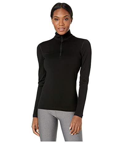 Icebreaker 260 Tech Merino Baselayer Long Sleeve 1/2 Zip (Black) Women