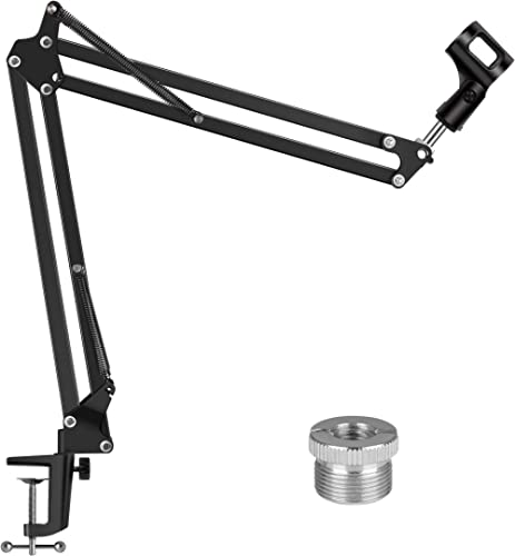 """InnoGear Microphone Arm, Upgraded Mic Arm Microphone Stand Boom Suspension Stand with 3/8"""" to 5/8"""" Screw Adapter Clip..."""