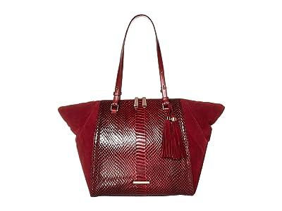 Brahmin Rosehip Medium Camila Tote (Cranberry) Tote Handbags