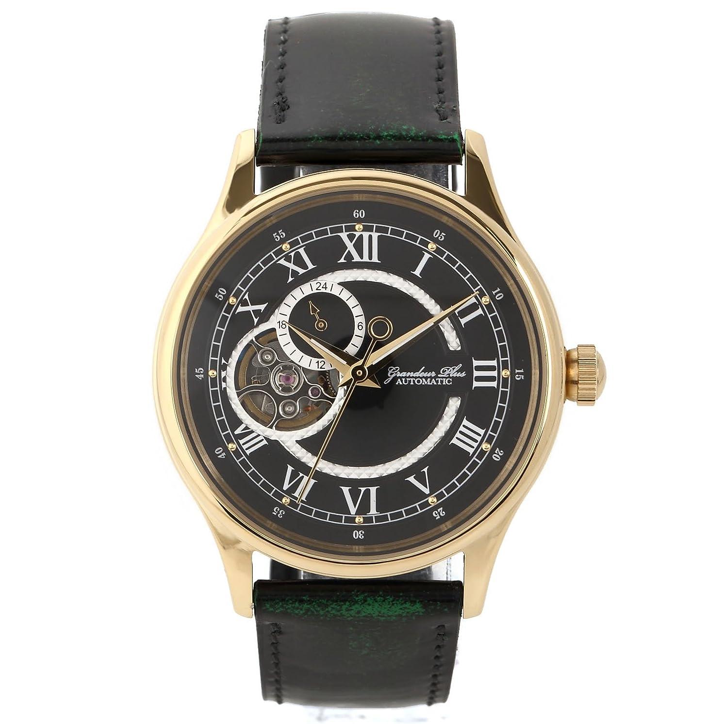 のり管理者離れて[グランドールプラス] 腕時計 GRSNDEUR PLUS+ 自動巻きシリーズ GRP013G1 メンズ グリーン