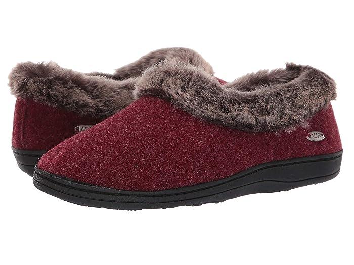 Acorn  Faux Chinchilla Collar (Crackleberry) Womens Slippers
