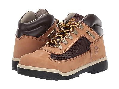 Timberland Kids Fabric/Leather Field Boot (Big Kid) (Medium Beige Nubuck) Kids Shoes