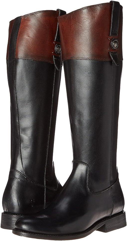 Black Multi Smooth Vintage Leather