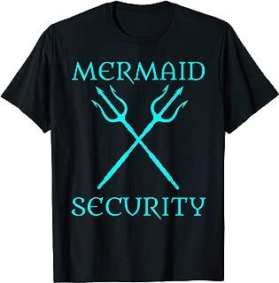 Mermaid Security Halloween Costume Dad Brother of Girl Men T-Shirt
