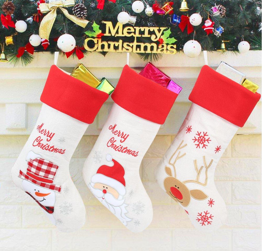 Navidad stockings-pack de 3, 17