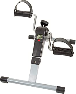 Wakeman Portable Folding Fitness Pedal Stationary Under Desk Indoor Exercise Bike for Arms, Legs, Physical Therapy with Ca...