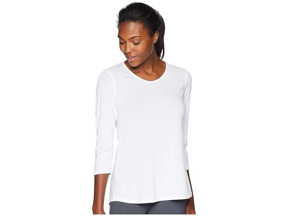 ExOfficio Wanderluxtm 3/4 Sleeve Top (White) Women