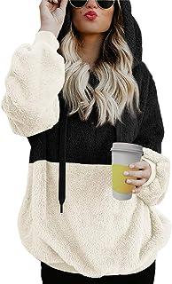 Tuopuda Felpe Donna Autunno Inverno Felpa con Cappuccio Casual Top Maniche Lunghe Pullover Oversize Sweatshirt Hoodie con ...