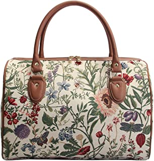 Ladies Garden Flower Travel Duffel Weekender Bag Hand Luggage Overnight Bag by Signare with Sunflower Poppy Butterfly Drag...