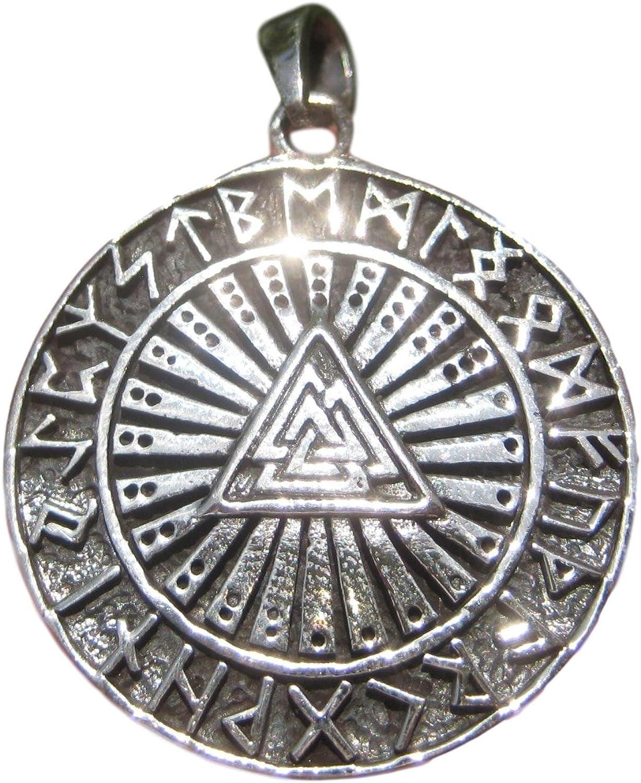 Free Shipping New Himalayan Treasures 925 Detroit Mall Silver Viking Valknut Runes Norse Trique