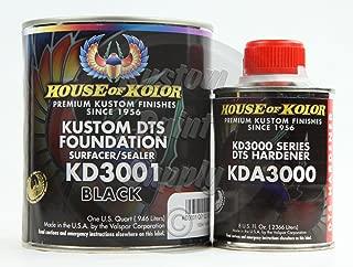 House Kolor KD3001 Black DTS Epoxy Surfacer Sealer 1Qt Kit