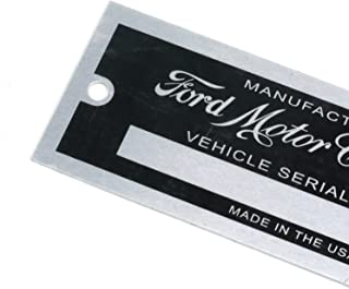 ford vin tag replacement