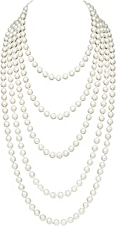 BABEYOND Vintage 1920s Gatsby Imitation Pearl Choker Necklace 20s Art Deco Flapper Accessories for Women