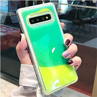 Luminous Neon Sand Cover Glow in The Dark Liquid Glitter Quicksand Cases,for Samsung S10E,Green
