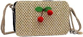 chinatera Straw Crossbody Bag Women Summer Beach Weave Shoulder Bag Straw Bag Crossbody Purse