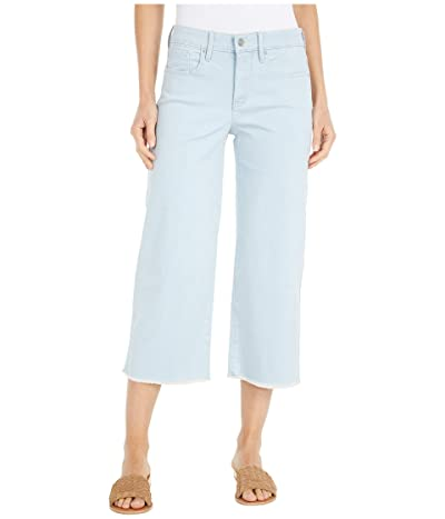 NYDJ Wide Leg Capri Jeans with Frayed Hem in Valhalla (Valhalla) Women