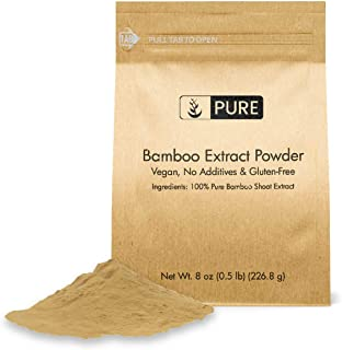 Bamboo Extract Powder (8 oz) by PURE, 100% Pure & All-Natural, Non-GMO, Gluten-Free