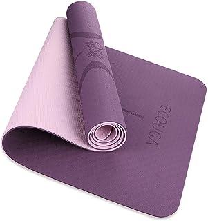 comprar comparacion ECOUGA Colchoneta de Yoga Antideslizante con Línea Corporal para Pilates Ejercicio con Banda Tensión Toalla de Hielo Sin P...