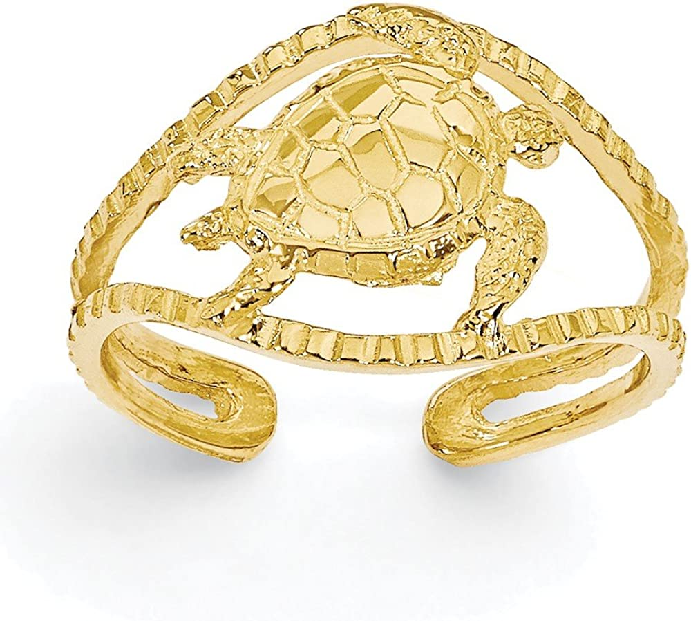 CoutureJewelers 14k Turtle Toe Ring