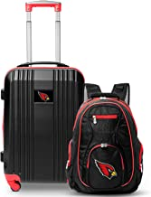 """Denco Arizona Cardinals 2-Piece Luggage Set, Includes 21-inch Two-Tone Hardcase Spinner and 19"""" Laptop Backpack"""