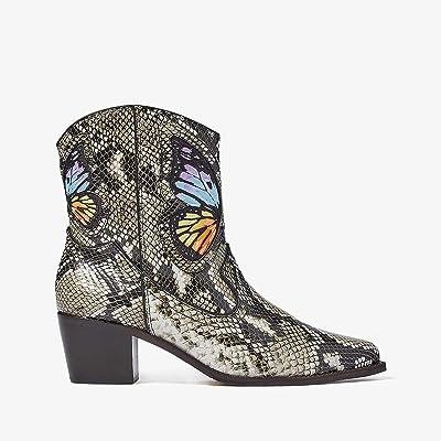 Sophia Webster Shelby Cowboy Boot (Snake Print/Rainbow) Women