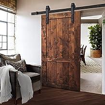 2m Sliding Barn Door Hardware Track Set Home Office Bedroom Interior Closet 120kg Door Weight Capacity