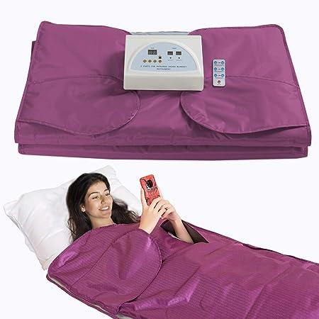SurmountWay Sauna Blanket Detox Far Infrared, Professional Body Shaper Sauna Slimming Blanket Detox Therapy Machine Fitness(Upgrade Purple)