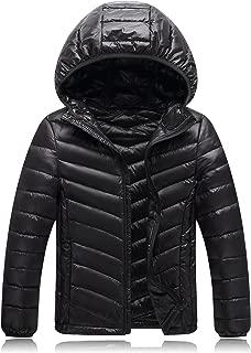Sumen Big Mens Winter Warm Puffer Parka Jacket with Fur Hood