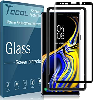 TOCOL for Samsung Galaxy Note 9 Screen Protector Tempered Glass [Case Friendly][Alignment Frame Easy Installation][3D Curved] with Lifetime Replacement Warranty