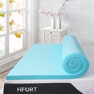 HIFORT 3 inch Foam Mattress Topper Twin XL, Cooling Gel-Infused Memory Foam Mattress Pad Single Bed Topper