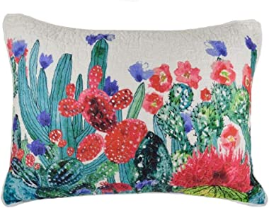 Donna Sharp Pillow Sham - Morning Desert Southwestern Decorative Pillow Cover with Cactus Design - Standard Size