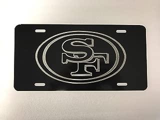 Diamond Etched SAN Francisco 49er's Logo 2 Car Tag on Aluminum License Plate