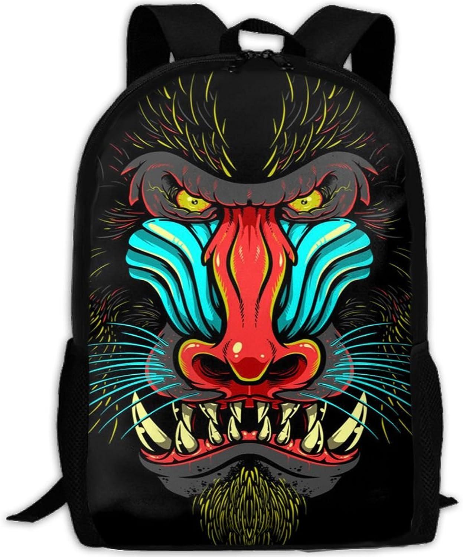 Backpack Laptop Travel Hiking School Bags Apes Daypack Shoulder Bag