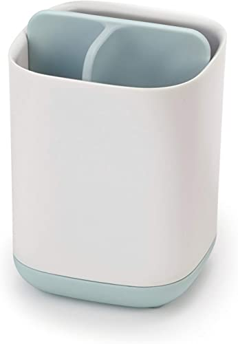 Joseph Joseph Easy-Store Toothbrush Caddy, Small, White & Pale Blue product image
