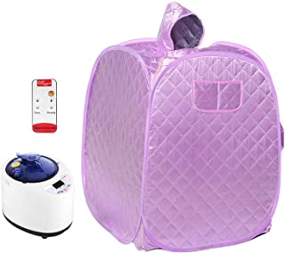 4YANG Portable Folding Personal Indoor Spa Steam Sauna,Family Fumigation Machine Steam for Weight Loss, Detoxification, Be...