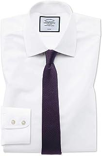 c5b7d852 Charles Tyrwhitt Extra Slim Fit White Non-Iron Poplin Cotton Formal Shirt  Double Cuff