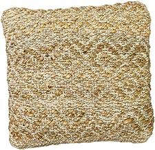 POPULAR LIFE HOME Mandor Cotton/Hemp Handwoven Pillow | Decorative Handwoven Pillow, Recycled Hand Woven Rug Cushion, Ivor...