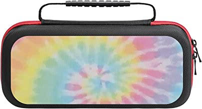$26 » Pastel Tie Dye Case Compatible with Switch Case Protective Carry Bag Hard Shell Storage Bag Portable Travel Case for Switc...