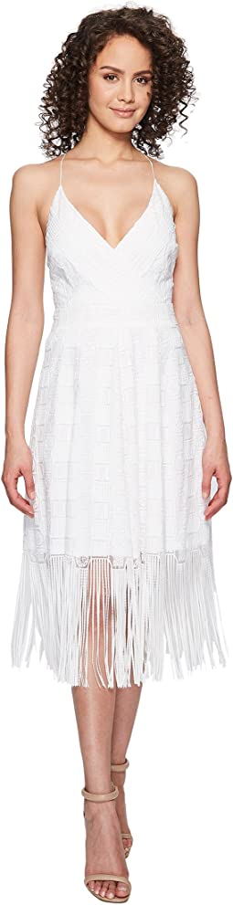 Nicole Miller - Elina Burnout Fringe Party Dress